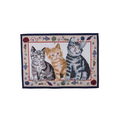 SET157(trois chats-beige)