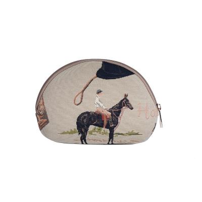 TR25366-4(cheval-écru) trousse cosmetique